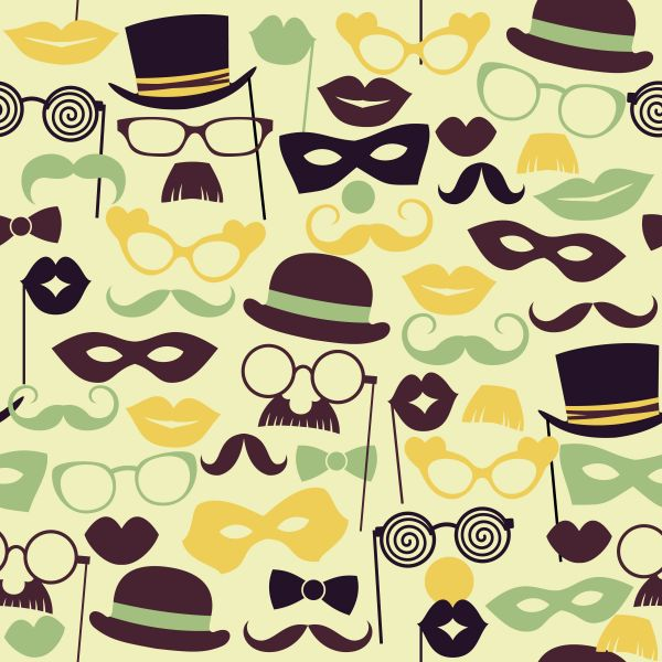 Fun retro party. Seamless pattern. vector