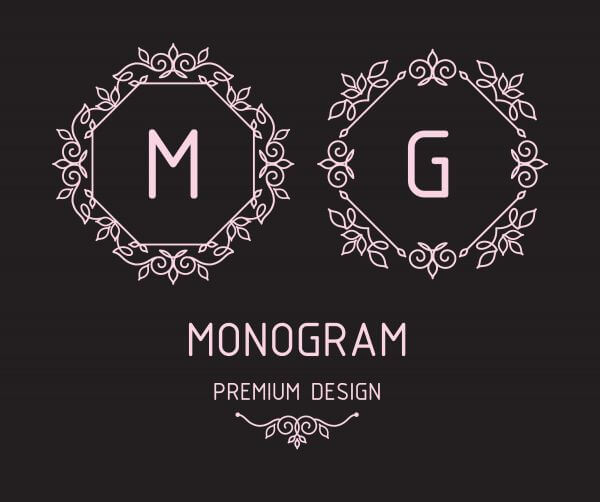 Monogram design templates vector