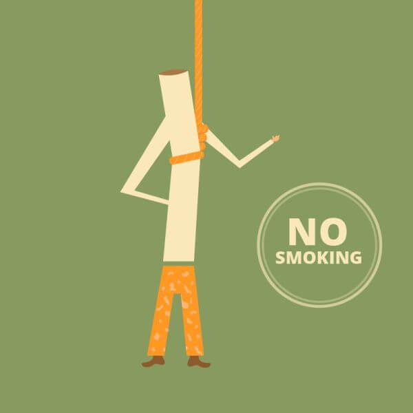 No Smoking Retro Illustration, cigarette  vector