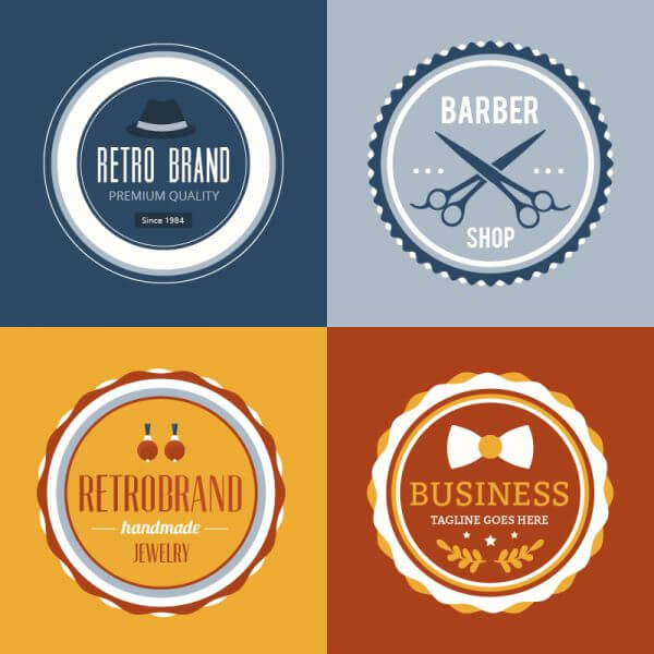 Retro Vintage Insignias or Logotypes set. vector