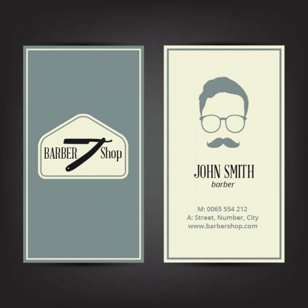 Barber shop business card vector