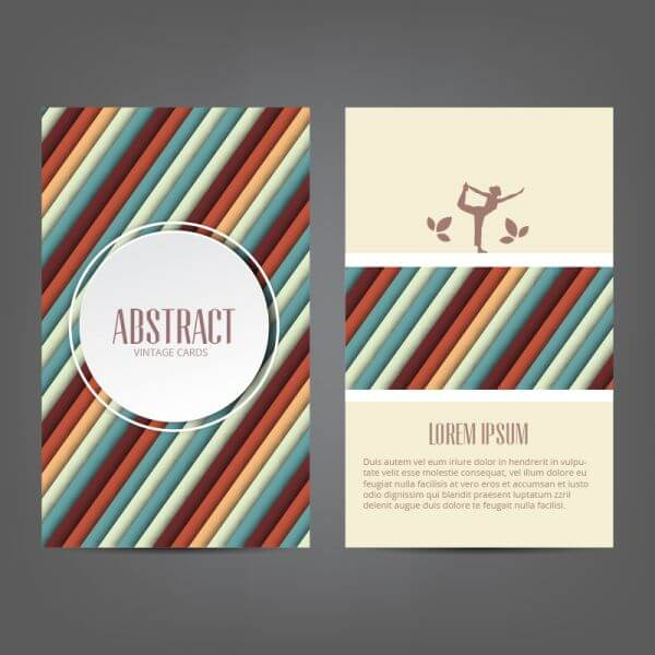 Abstract yoga card vector