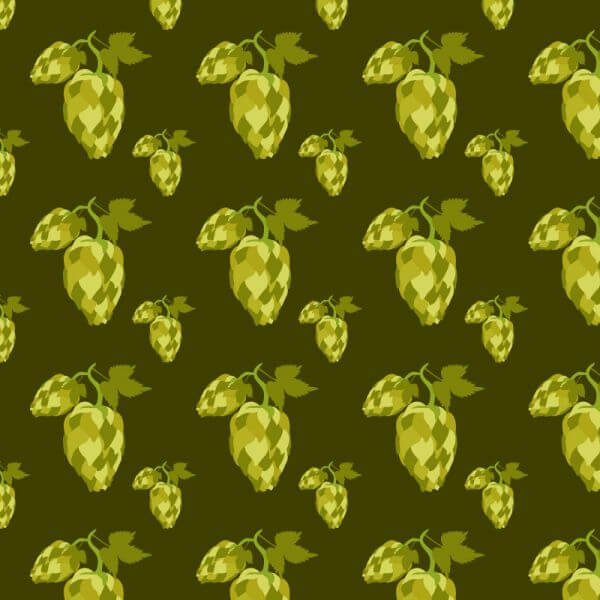 Hop seamless pattern vector
