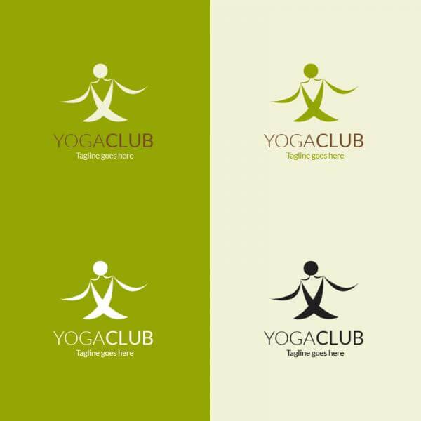 Yoga pose vector logo vector