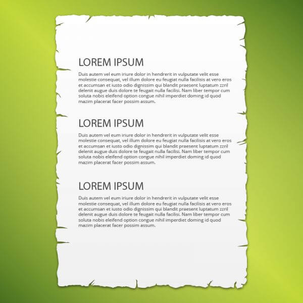 Lacerated paper page, vector illustration vector