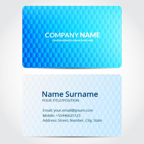 Hexagon business card design vector