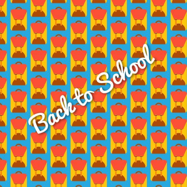 School bag pattern, back to school vector