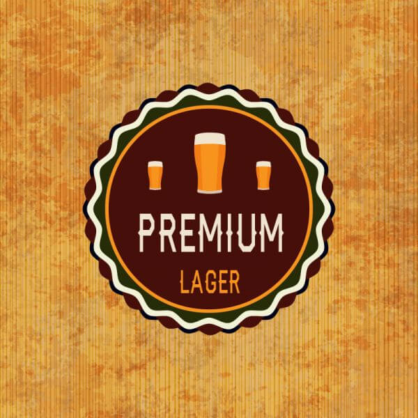 Retro beer label on grunge background vector