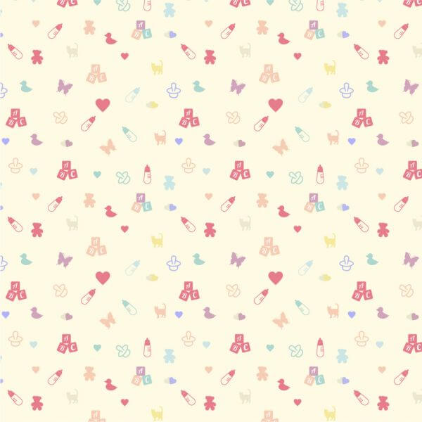 Cute baby pattern vector