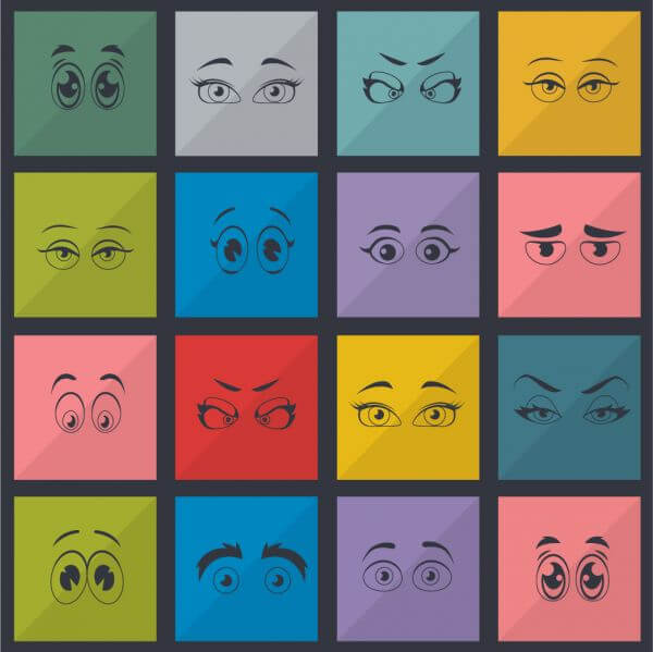 Eyes vector set vector