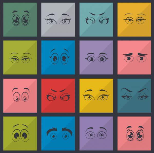 Eyes vector set vector
