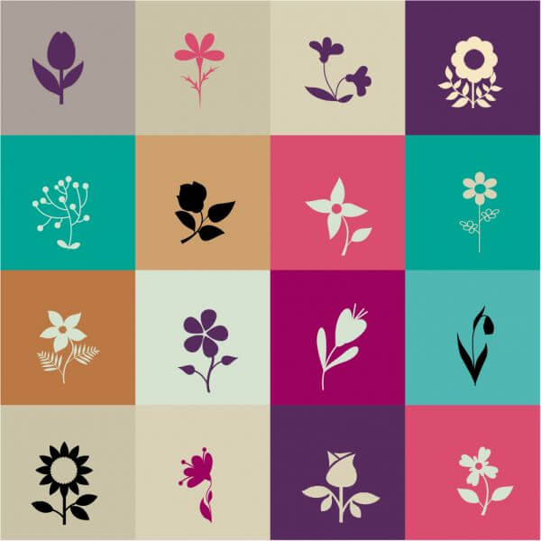 Flowers in metro style vector