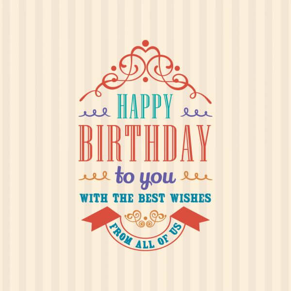 Happy Birthday Invitation vector
