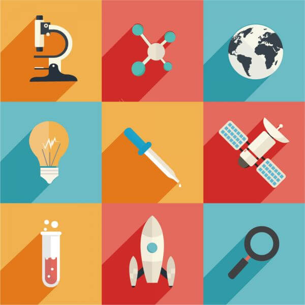 Science and Technology Icons vector