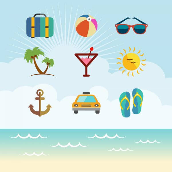 Travel Vector Icon set vector