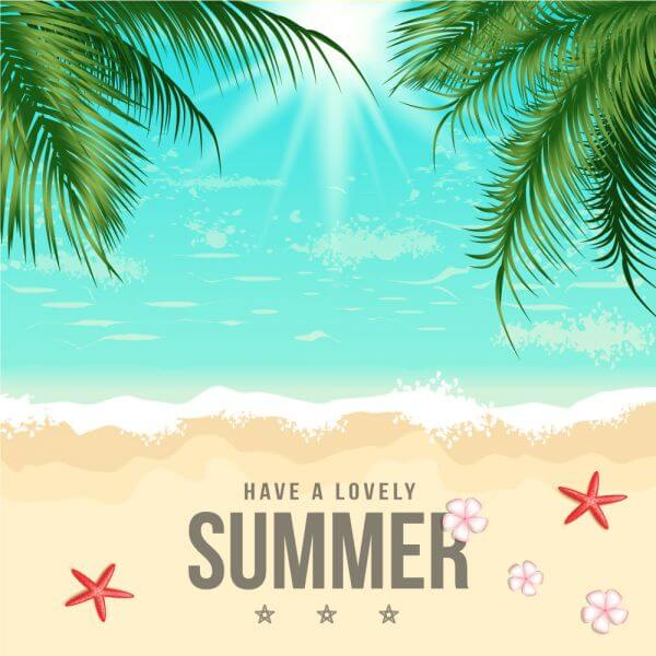 Summer Beach Vector Illustration vector