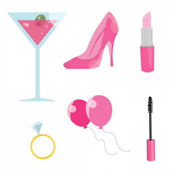 Pink Bachelorette Party vector