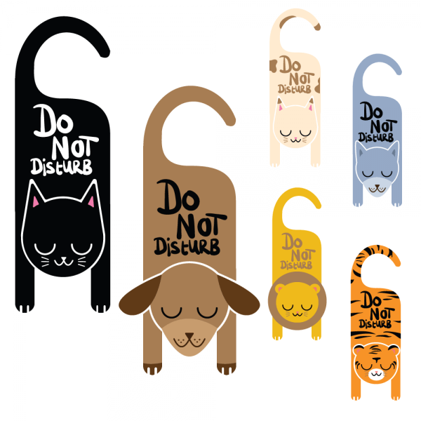 Do not disturb animal signs vector
