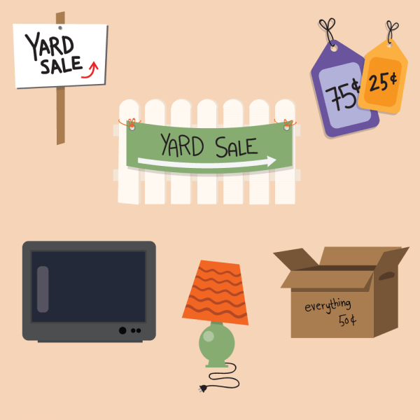 Yard Sale Vector Set vector