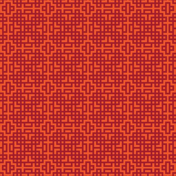 Asian Red, and Orange Geometric Pattern vector