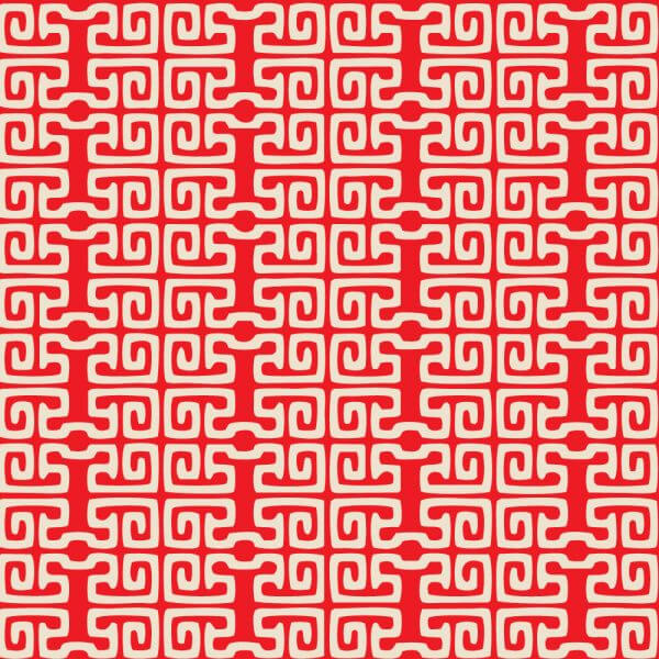 Asian Red and White Pattern vector