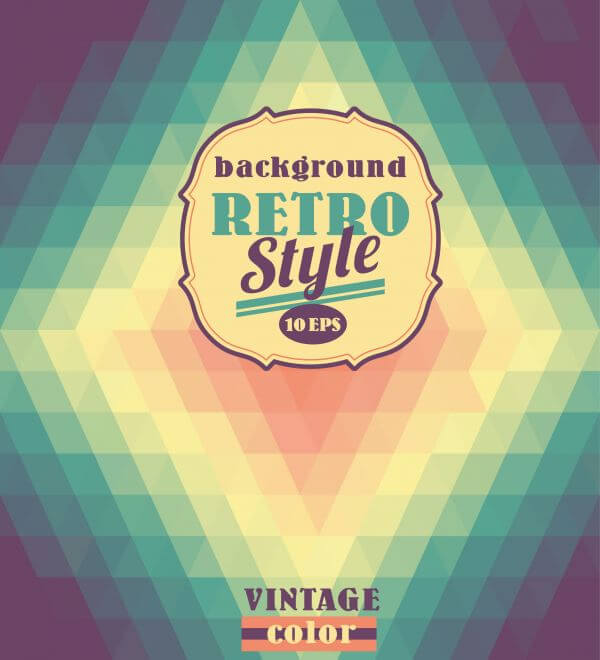 Geometric retro background. vector