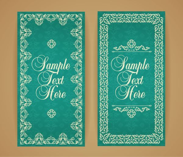 Design template in vintage style vector