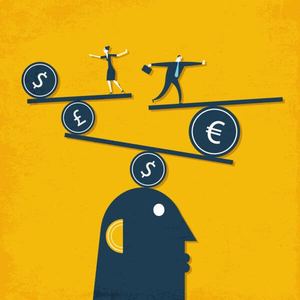People and money vector