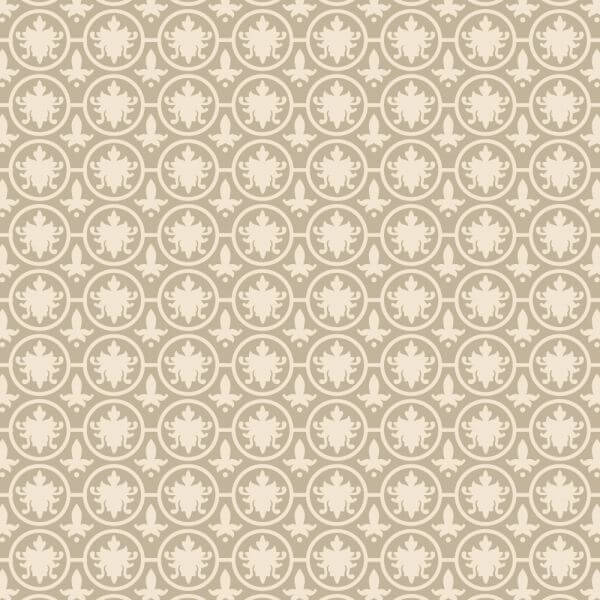 Vintage Ornate Low Contrast Cream Pattern vector