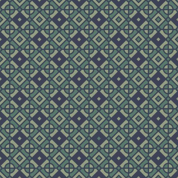 Vintage Geometric Blue and Green Pattern vector