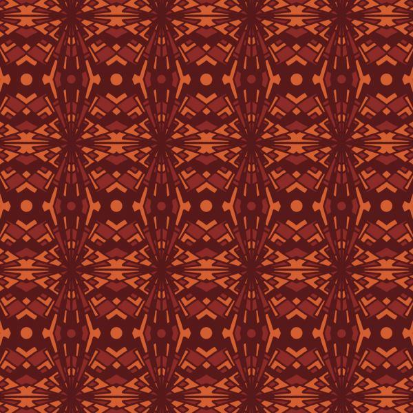 Abstrackt High Contrast Warm Pattern vector