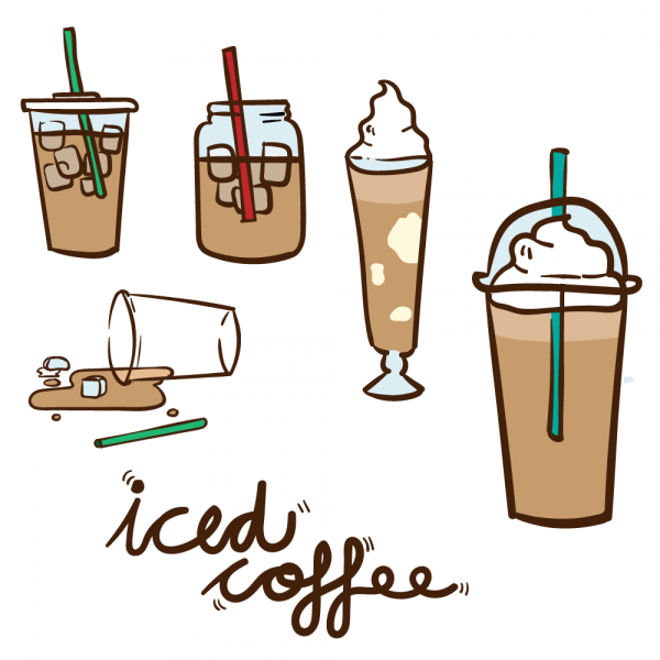 Iced Coffee Vector vector