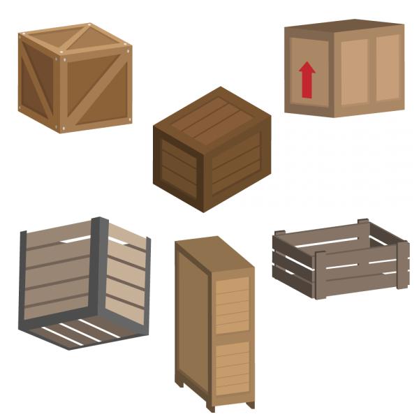 Crate Vectors vector