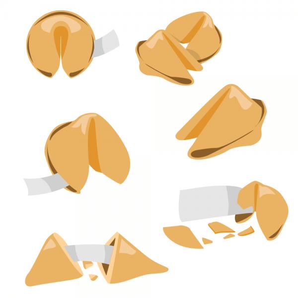 Fortune Cookie Vector Set vector