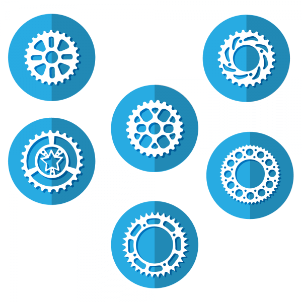 Bike Sprocket Icons vector