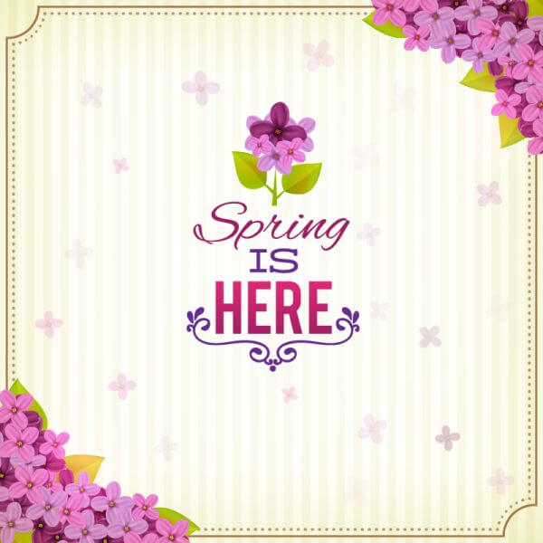 Spring illustrations vector