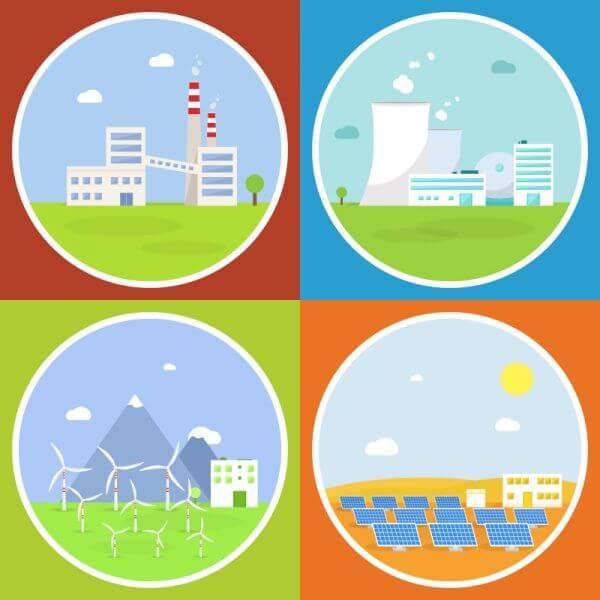 Industrial building factories set vector