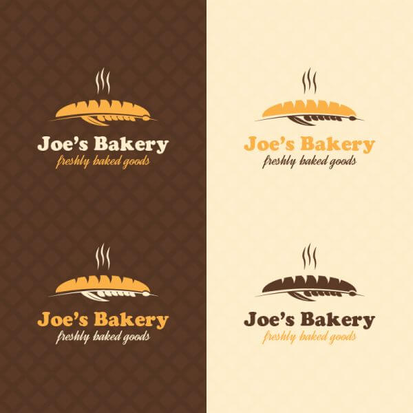 Bakery retro logo design vector