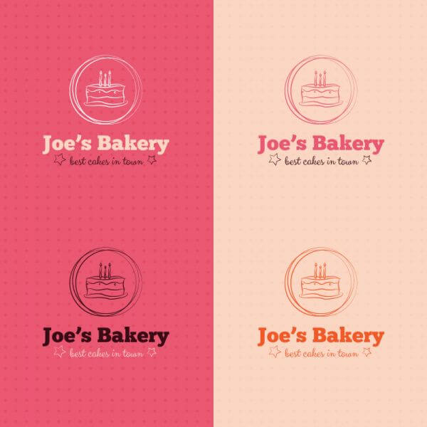 Bakery cake logo design vector