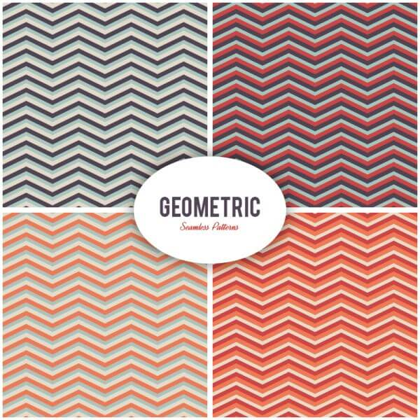 Seamless vector geometric patterns set vector