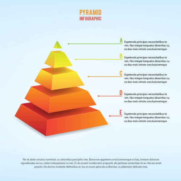 3d piramid infographic vector