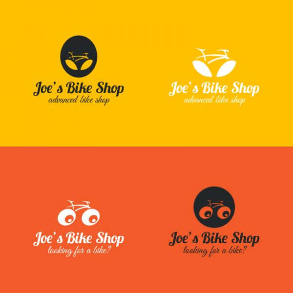 Bicycle logos design vector
