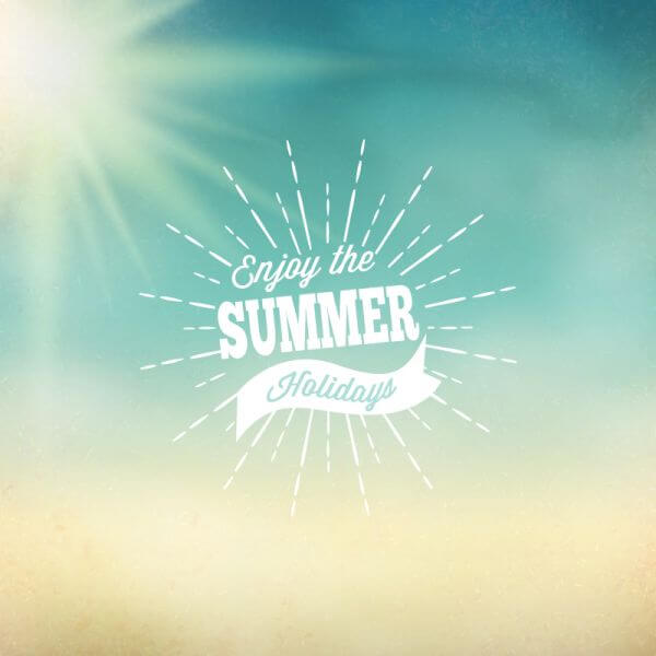 Retro summer illustration vector