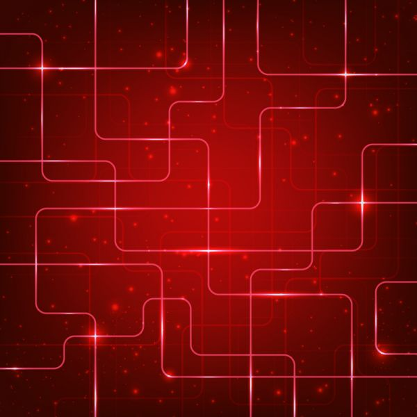 Abstract hi-tech red background vector