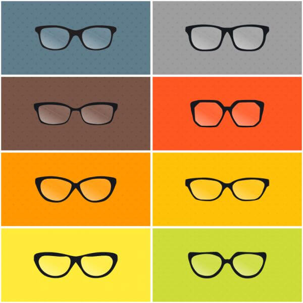 Vector Glasses Set vector