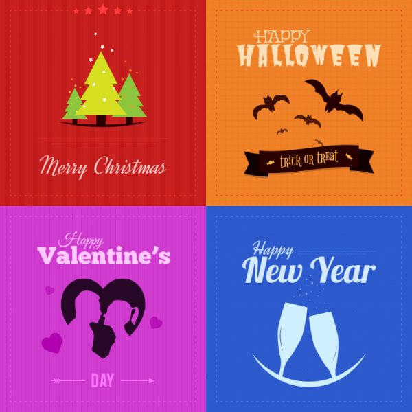 Holiday Badges vector
