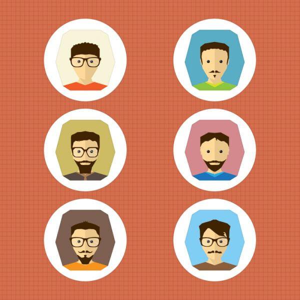 6 Vector Characters vector