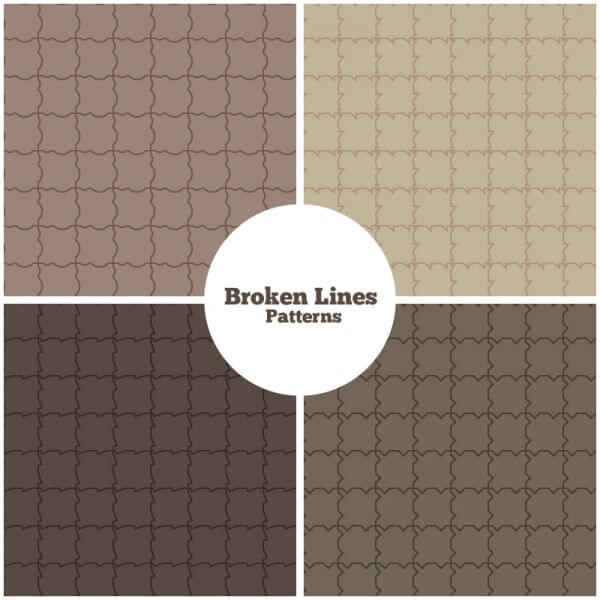 Broken Lines Patterns vector