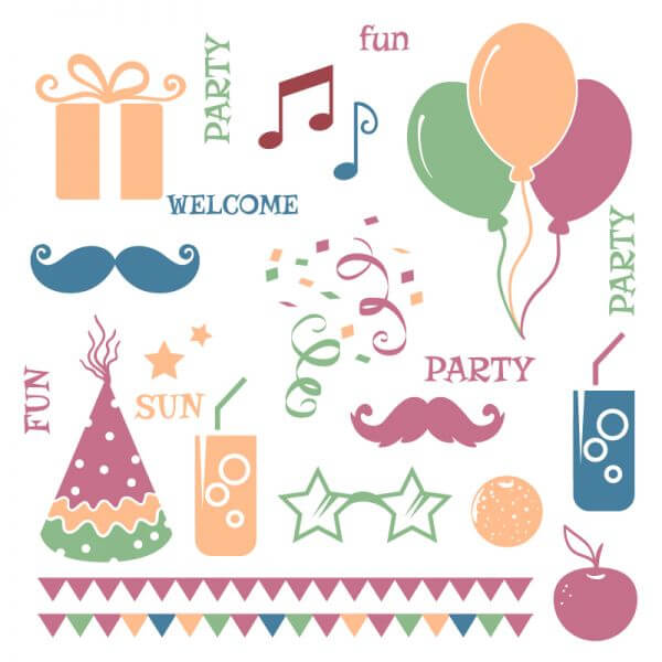Celebration vector elements vector