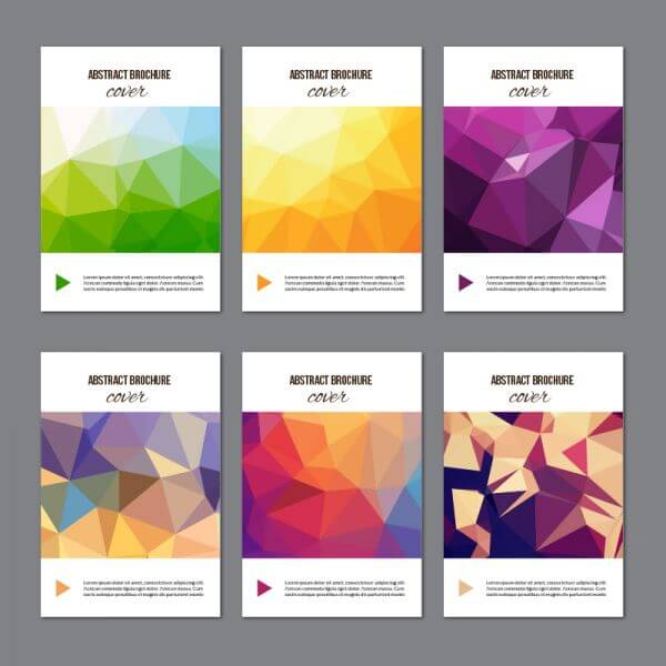 Set of modern cover brochures vector
